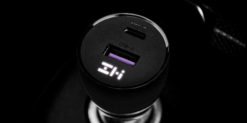 Автомобильный блок питания Xiaomi ZMI Metal Car Charger 45W Dual Port USB/Type-C (AP721)